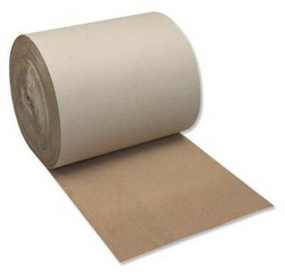 600mm x 75m Metre Brown Corrugated Cardboard Paper Roll  Protection Parcel