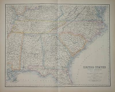 United States Of America - South Eastern States By A. Fullarton 1874.
