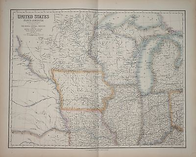 United States Of America - North Central Section By A. Fullarton 1874.