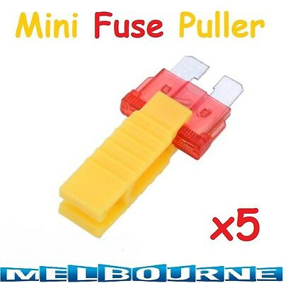 5 x Car Blade Mini Micro Fuse Puller Insertion Removal Ato Tool Extractor #SCCA