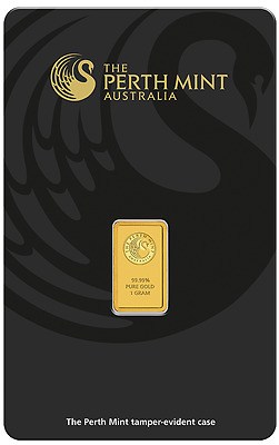 Perth Mint Australia 1 gram Gold Bar - Perth Mint - 99.99 Fine GOLD BULLION