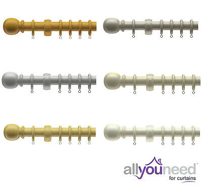 Speedy Products 28mm Victory Wooden Curtain Pole Sets Available in 3 Colours!