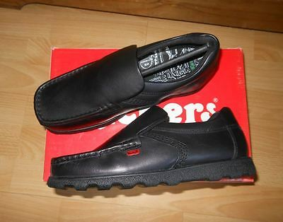 New Mens Kickers Black Fragma Slip On Leather Shoes size UK 5,UK 6 new with box