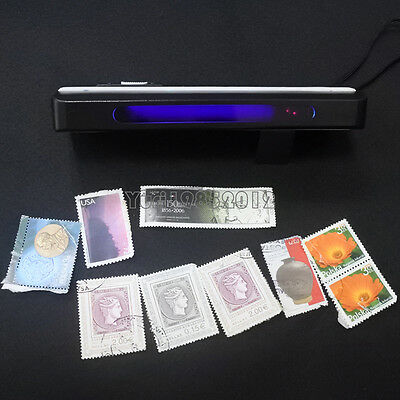 254nM Ultraviolet Portable Philatelic Tagged Stamp Shortwave UV Lamps w/ Filter