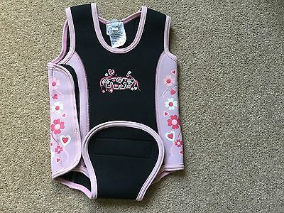 TWF baby wrap wetsuit 6-12 months pink/black