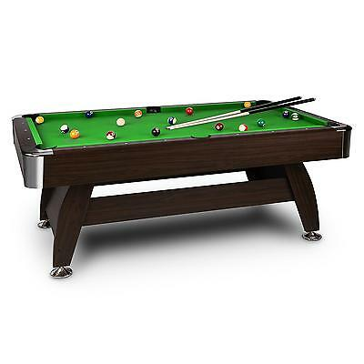 ONECONCEPT POOL TABLE BILLIARD 8 FEET 122 x 79 x 244 cm PARTY GAMING 16 PC BALL