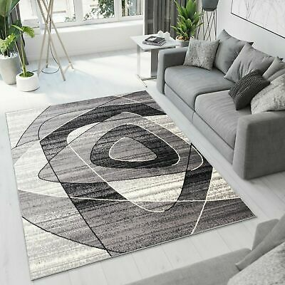 New Rug Modern Design Small Extra Large Soft Pile Triangles Pattern Grey Mat