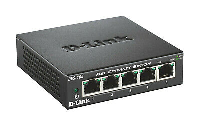 D-LINK 5-Port Layer2 Fast Ethernet, Desktop Switch