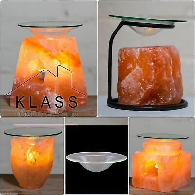 Himalayan Natural Salt Lamp Oil Burner Yankee Candle Tart Warmer Tealight Holder
