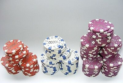 Plastic Poker Gaming Chips X 130
