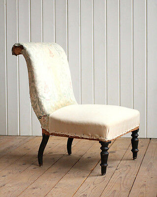 Vintage Antique 19th Century French Nursing Chair Victorian