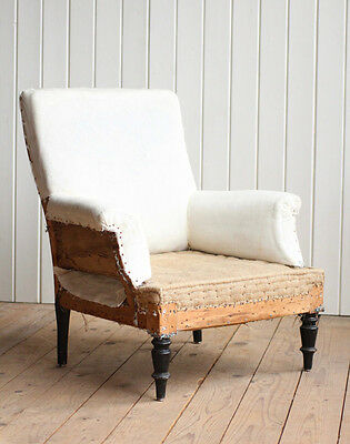 Vintage Antique Early 20th Century French Nursing Arm Chair Victorian