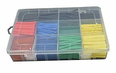 URBEST 530 Pcs 2:1 Heat Shrink Tubing Tube Sleeving Wrap Cable Wire 5Color 8Size