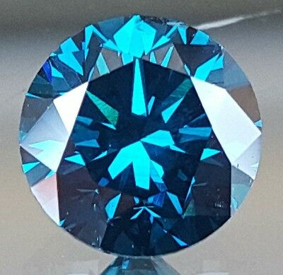 1.02 Carat Intense Vivid Blue Diamond, Certified, Top Quality, High End Stone