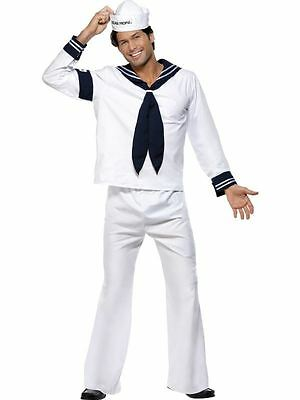 Mens Adults Village People YMCA Navy Sailor Fancy Dress Costume Outfit