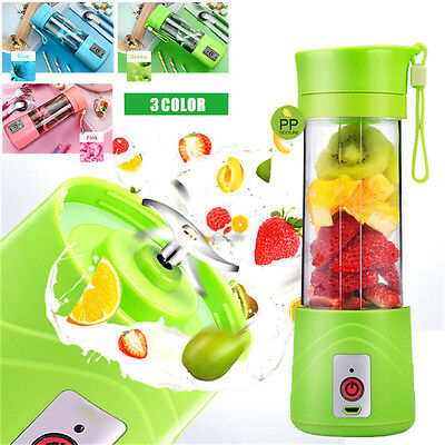 Healthy Juice Blender Mini Mixer Juicer Cup Travel USB Rechargeable Power Bank