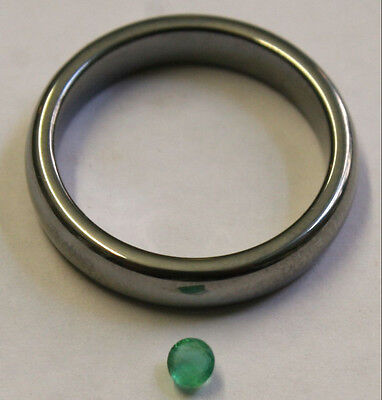 Natural Loose Emerald Hand Cut Gemstone 3Mm Faceted Round 0.25Ct Gem Em33A