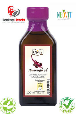 Amaranth oil, cold pressed, unrefined  - 100 ML Glass Bottle