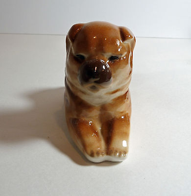 CHOW-CHOW Dog porcelain Figurine--very realistic--by Lomonosov--New
