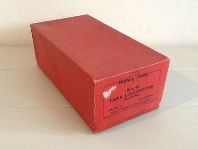 Hornby O Gauge No40 Tank Locomotive Original Empty Box