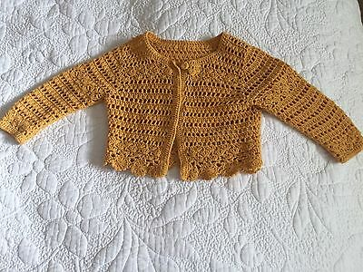 Marks And Spencer Baby Girl Crochet Cardigan 3-6 Months