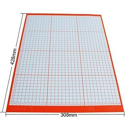 Large Non Slip Cutting Mat for Cutting Plotter with Sticky Printed Grid-A3 Size