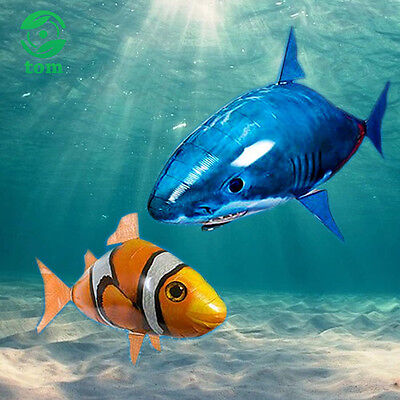 Air Swimmer Remote Control RC Flying Inflatable Fish Shark Blimp Balloon TOY