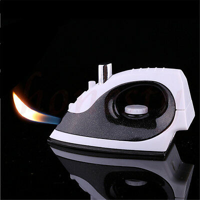 Electric Iron Shaped Refillable Fire Butane Gas Lighter For Cigarette Smoker NEW