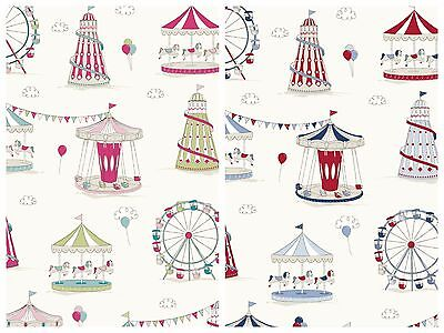Fryetts Funfair 100% Cotton Curtain Upholstery Craft Fabric | 2 Colours