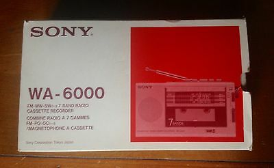 Sony Wa-6000 In Box Radio Worldreceiver Radio Cassette