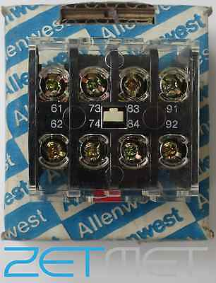 Allenwest U-4195105 Auxiliary Contact Top Adder 2No 2Nc Relay Switch