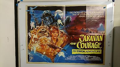 Star Wars Caravan Of Courage Ewok Original UK Quad Film Movie Poster 1984