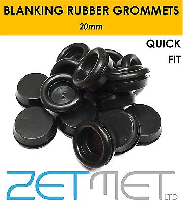 20mm SUPER Closed Blind Blanking Rubber Grommets Quick Fit Plug Bung Gromet