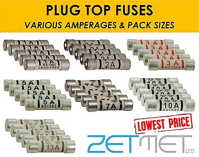 Domestic Fuse 3a 5a 10a 13a Jade Or Bussman 240v Bs1362
