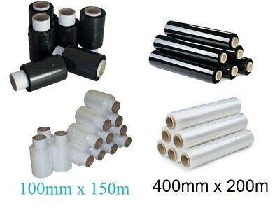 Strong Rolls Black Pallet Stretch Shrink Wrap Cast Parcel Packing Cling Film