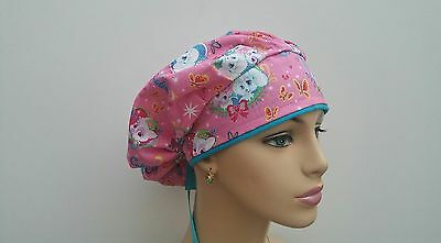 Bouffant Cap/Medical Cap/Surgical Scrub Hat/Woman/Handmade/One size fits all