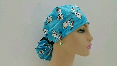 Ponytail Scrub Hat-Handmade, Medical, Multi-Color, One Size/Olaf and Wintet