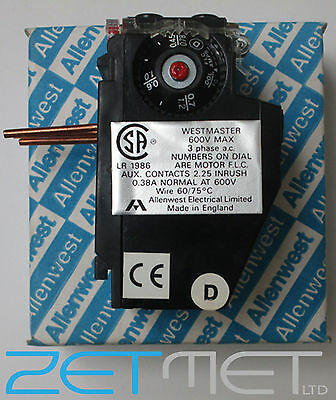 Allenwest Olwrood Westmaster Overload Relay 3 Phase Ac 600V Contactor Simplex