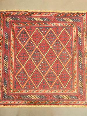Neat Flatweave Rug Afghanistan Early 20th Century
