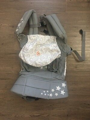 Ergobaby Ergo Baby Infant Carrier Gray With Star Embroidery Adjustable Strap