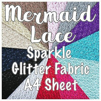 Mermaid Lace Glitter Fabric Sheet
