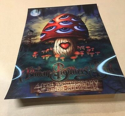 Allman Brothers Band Halo graphic 12x18 Poster Jeff Wood 2009