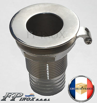 "Passe coque Filetage 1""1/4  Diamètre 39mm inox 316"
