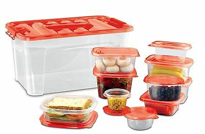 Storage Container Set - 54 pc. BPA Free Plastic, Microwave Dishwasher Safe