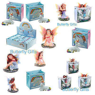 Cute Fairy Unicorn Rainbow Figurine in a Bag Magical Gift Ideal Party Fillers