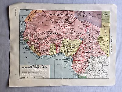 Antique West And Equatorial Africa Economy And Normal Map  R. Bolze  30's