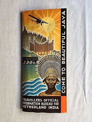 Rare Travellers Official Brochure Bureau For Netherland India Java 30's