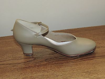 Vintage Liberts Tap Shoes NEVER WORN NIB NUDE LEATHER Womens Sz 8