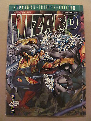 Wizard Magazine Superman Tribute First Edition Foil Cover 1993 DC Doomsday