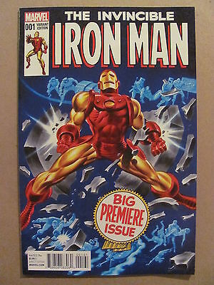 Invincible Iron Man #1 Marvel 2015 Series Timm Classic 1:25 Variant 9.4 NM